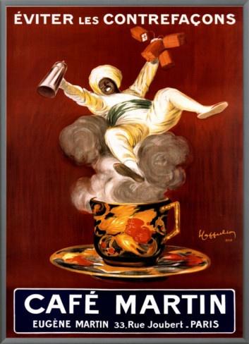 Cafe Martin 1921 Framed Canvas Print