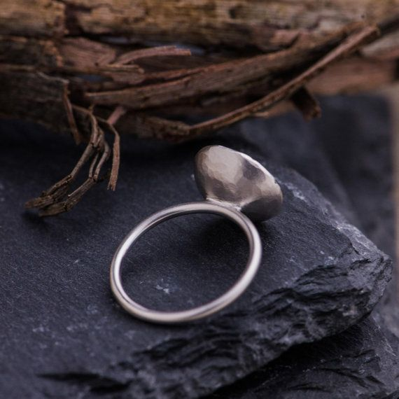 Ring in 18K Matte White Gold set with Natural by ZEHAVAJEWELRY