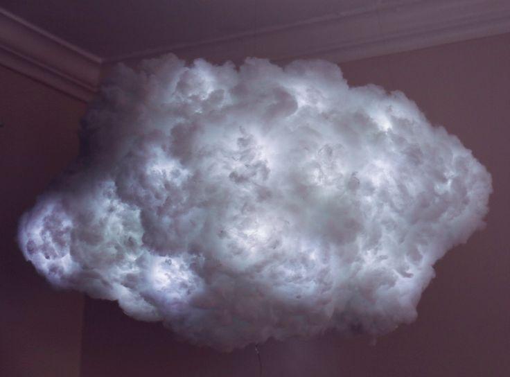 Wolkenlampe DIY Cloud Lamp Lampe Selber Basteln Gewitterwolke