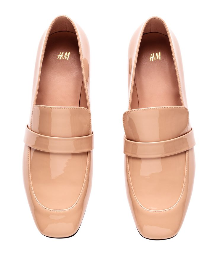 Nude Patent Loafers | H&M Shoes