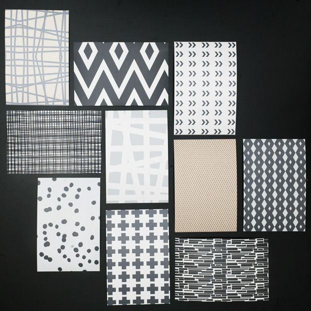 patterned post cards