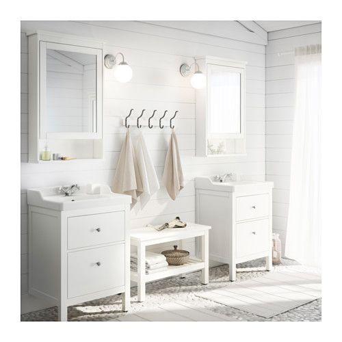HEMNES/RÄTTVIKEN Mobile per lavabo con 2 cassetti IKEA Puoi modificare facilmente l'ampiezza degli scomparti del cassetto spostando il d...