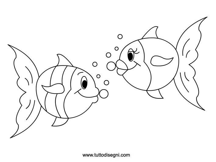 10 idee su disegni di pesci su pinterest disegno del for Pesci da colorare per bambini
