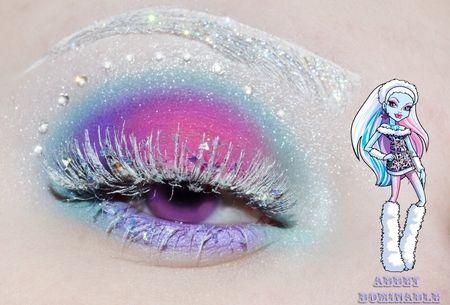Monster High series -  Abbey Bominable https://www.makeupbee.com/look.php?look_id=87009