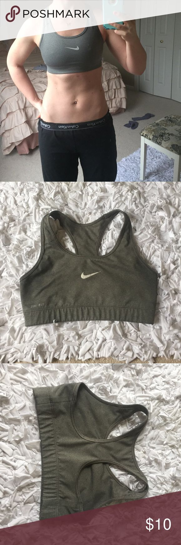 Nike Bra Minimum wear. Nike sign is a little faded and little to no underarm stains! No padding but hold you in good. Would fit a 2-4. Nike Other