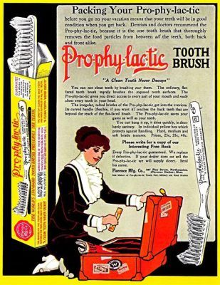 1913 Ad For Pho Phy Lac Tic Brand Angled Toothbrush