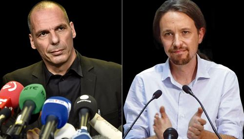 Guardian Live: Yanis Varoufakis and Pablo Iglesias in conversation  Friday 23 October 2015, 7pm–8.30pm @ Central Hall Westminster