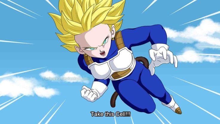 Fake dragonball episode - Furipa vs Cell by Furipa93