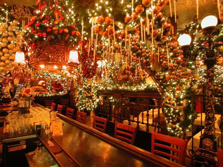 Christmas Decorations In Restaurant : Rolf s bar restaurant holiday decor restaurants