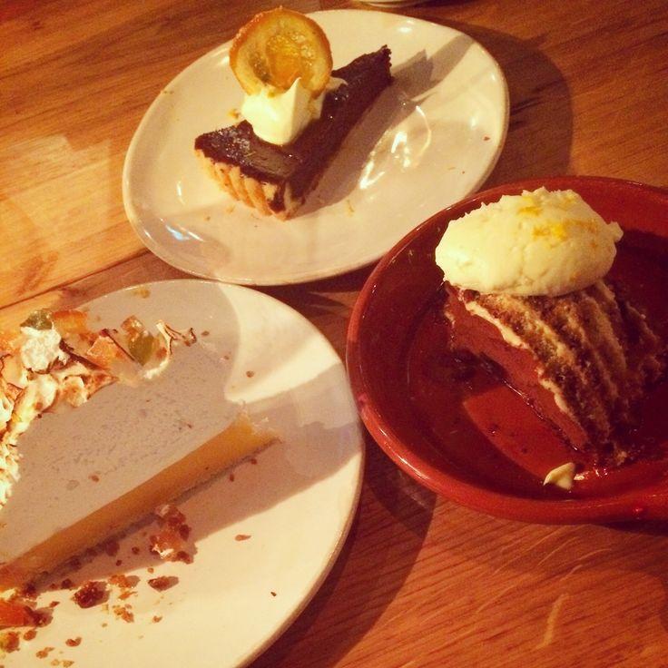 Trio of desserts #jamiesitalian #lemon #meringue #coffee #tart #tiramisu #indulge