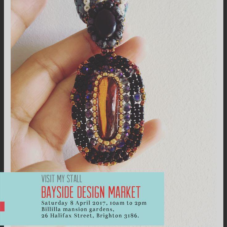 Visit me at next Bayside Design Market  Saturday 8 April 2017, 10am to 2pm Billilla mansion gardens, 26 Halifax Street, Brighton 3186.
