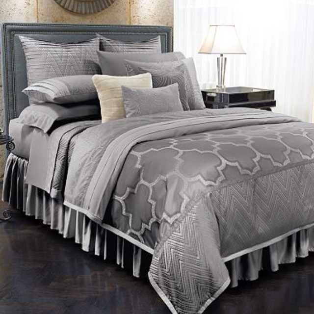we need new grey bedding and this would be