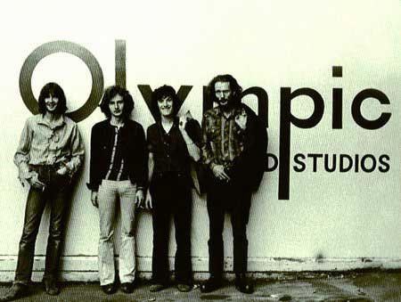 Blind Faith at Olympic Studios ~ Blind Faith 1968 - 1969  ~  Eric Clapton, Ginger Baker, Steve Winwood and Rick Grech - the second 'super-group' to be born after the break up of Cream. Blind Faith released their only album, Blind Faith, in August 1969.