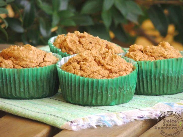 Muffin Farina di Cocco e Cannella (Senza Glutine e Senza Zucchero)  Dolce Senza Zucchero