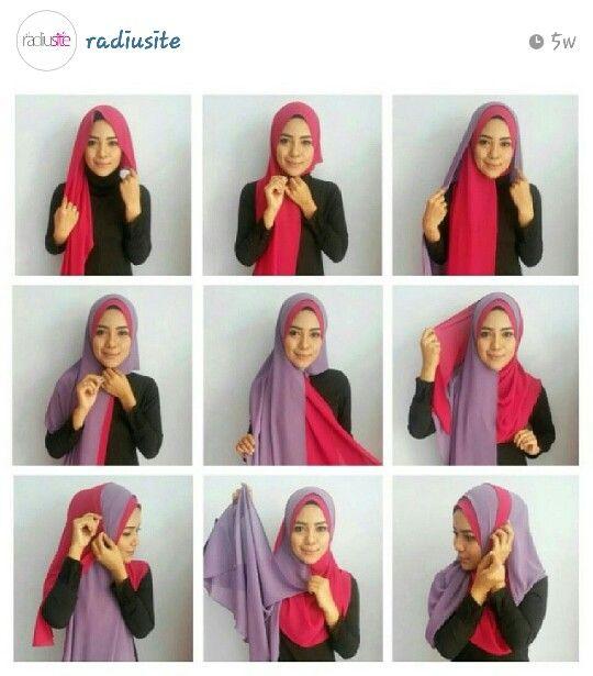 Radiusite :: hijab tutorial - 2 shawls in one lilitan..