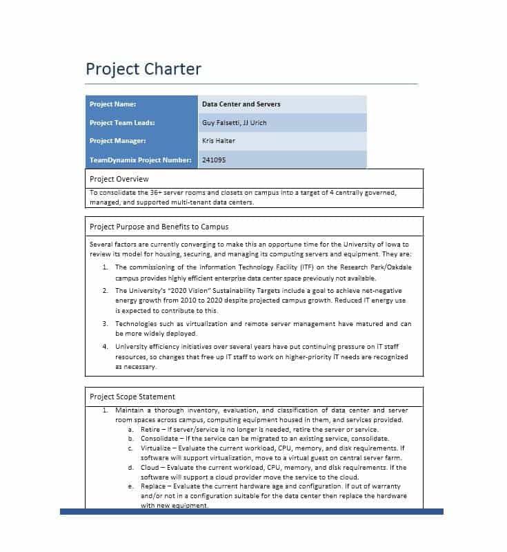 Project Charter Template Employee Handbook Template