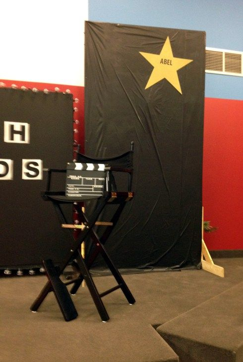Movie theme decorating idea-  Walk of Faith on the backdrops on stage instead of the floor.