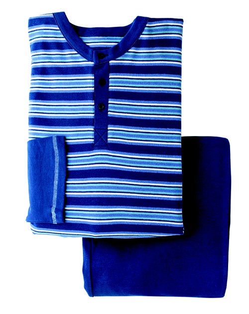 Striped knit sleepwear set
