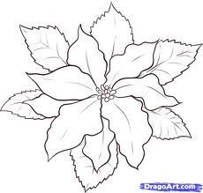 poinsettias para colorear - Buscar con Google