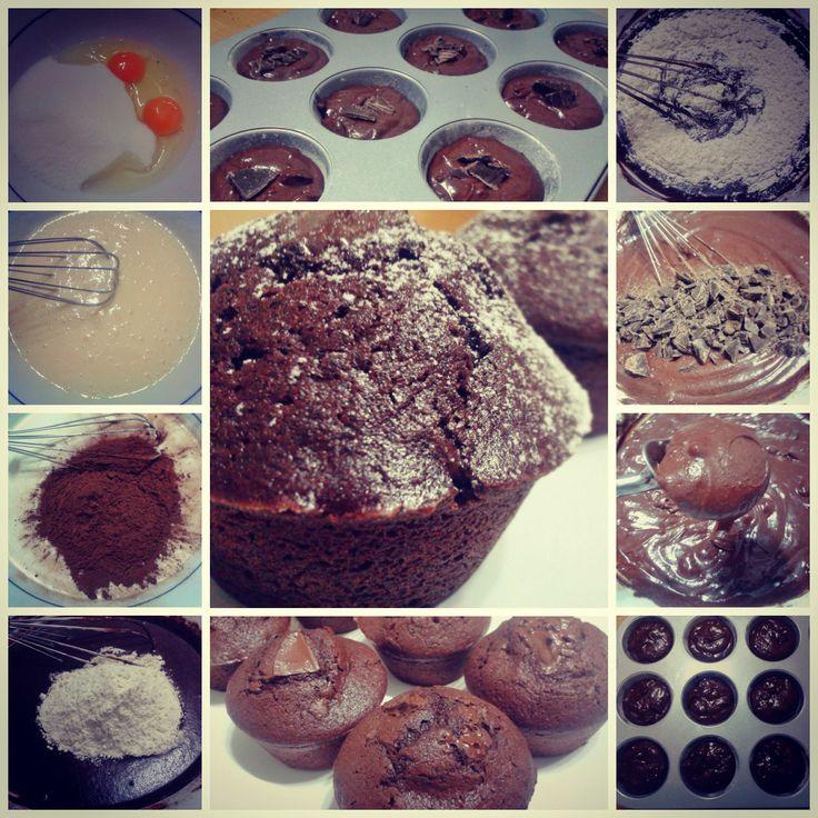 Preparazione muffin.... http://www.lovecooking.it/dolci/muffin-al-cioccolato/