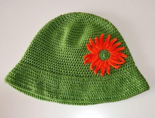 Chapéu em Croché com Girassol Crochet Summer hat
