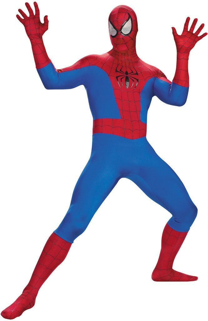 men's costume: spiderman deluxe - rental quality | large