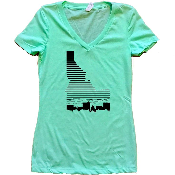 Boise Idaho Fade Women's V-Neck Shirt