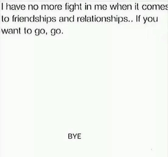 Yup. Hurts like a bitch still. But, hey that's on me. Won't beg anyone to stay, that really hurts way more. If you wanna stay though. I will never lose the fight in me for those who decide to stay.