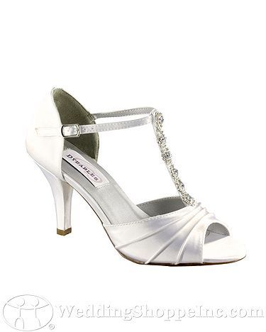 Shoes Dyeables  Makayla Wedding Shoes $66 Fabric: Satin Heel Height: 2 3/4 Inches Shoe Style: T-Strap Season: Fall 2010