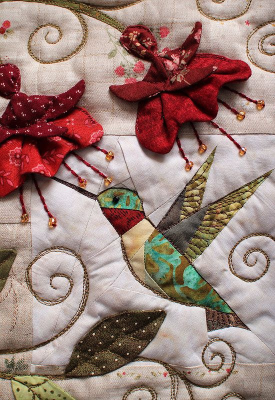 Hummingbird Pillow | by PatchworkPottery