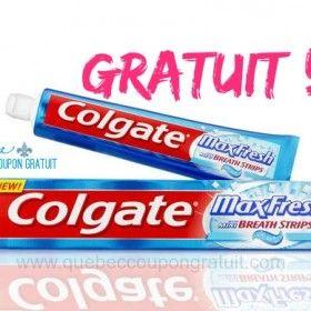 Dentifrice Colgate Gratuit !!