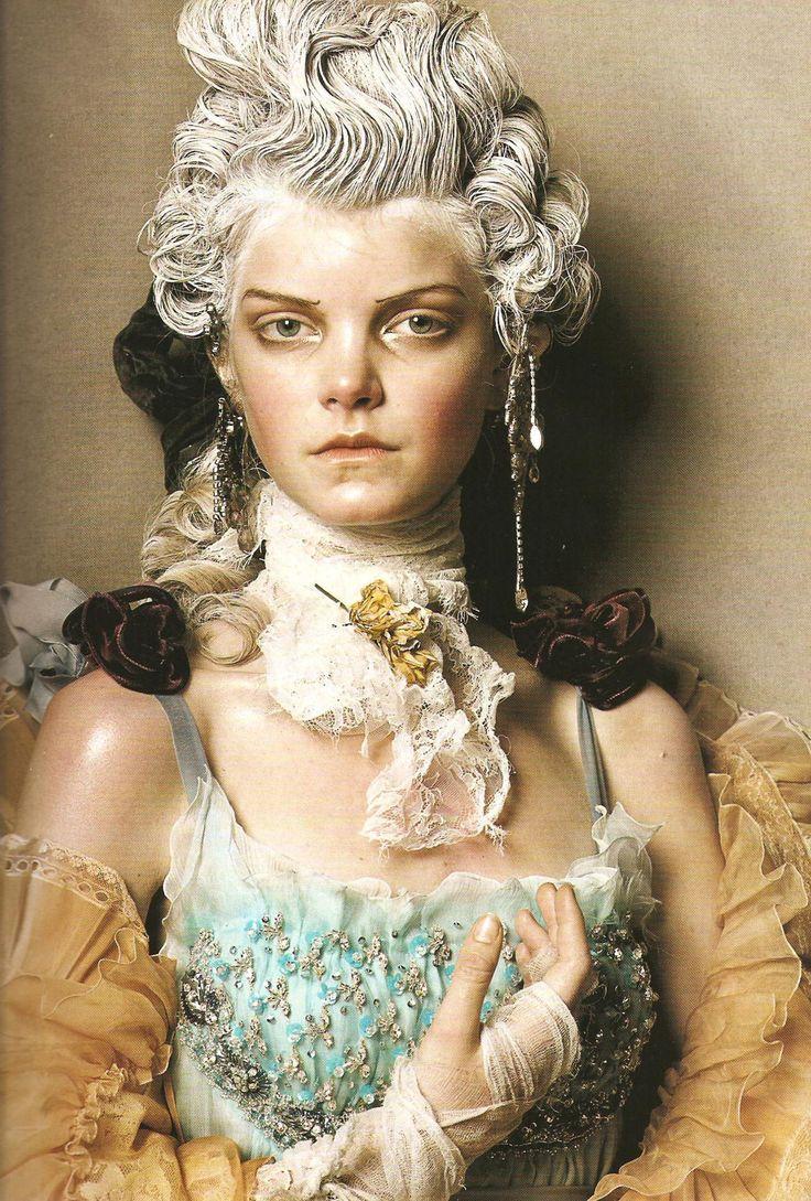 Marie Antoinette shoot for Vogue Italia 2008 shot by Stephen Meisel