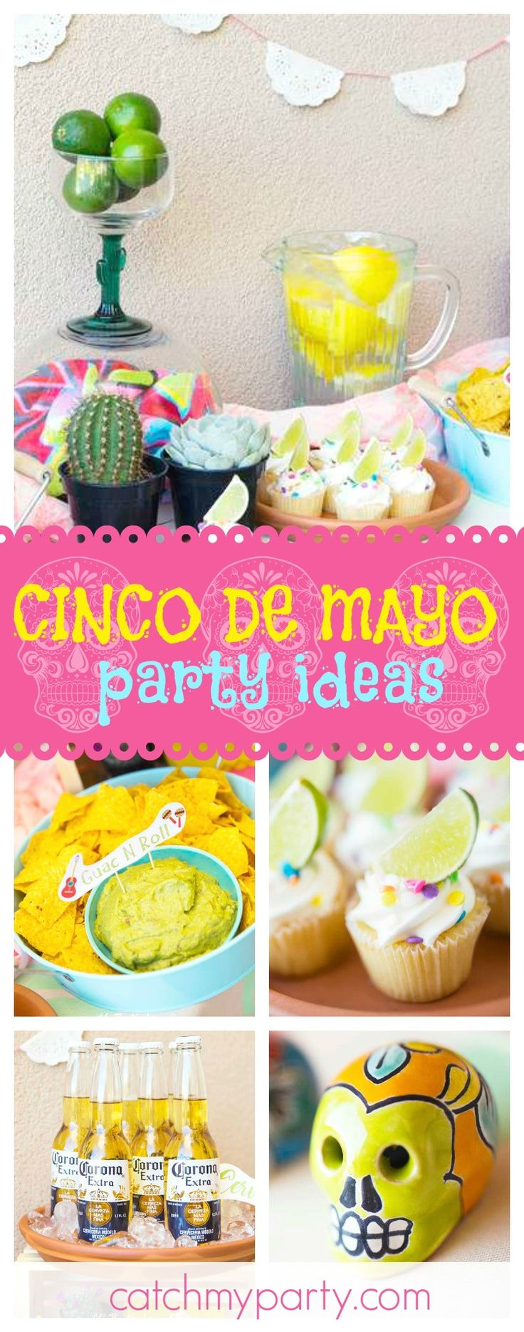 Count down to Cinco de Mayo with a fun party like this one!! The lime cupcakes are awesome!! See more party ideas and share yours at CatchMyParty.com