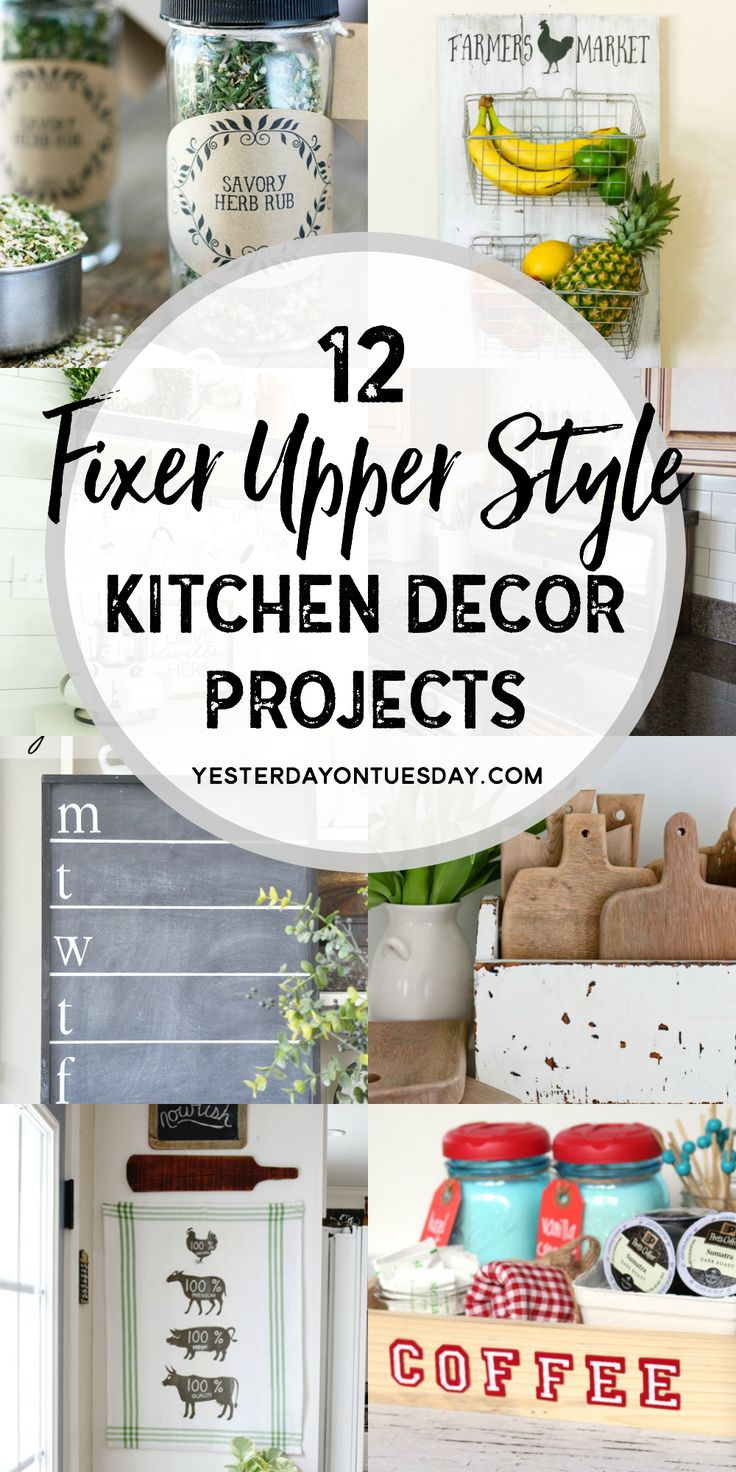 Diy kitchen decor crafts - Fixer Upper Kitchen Decor Projects Great Diy Project Ideas For Making Your Kitchen Pretty And