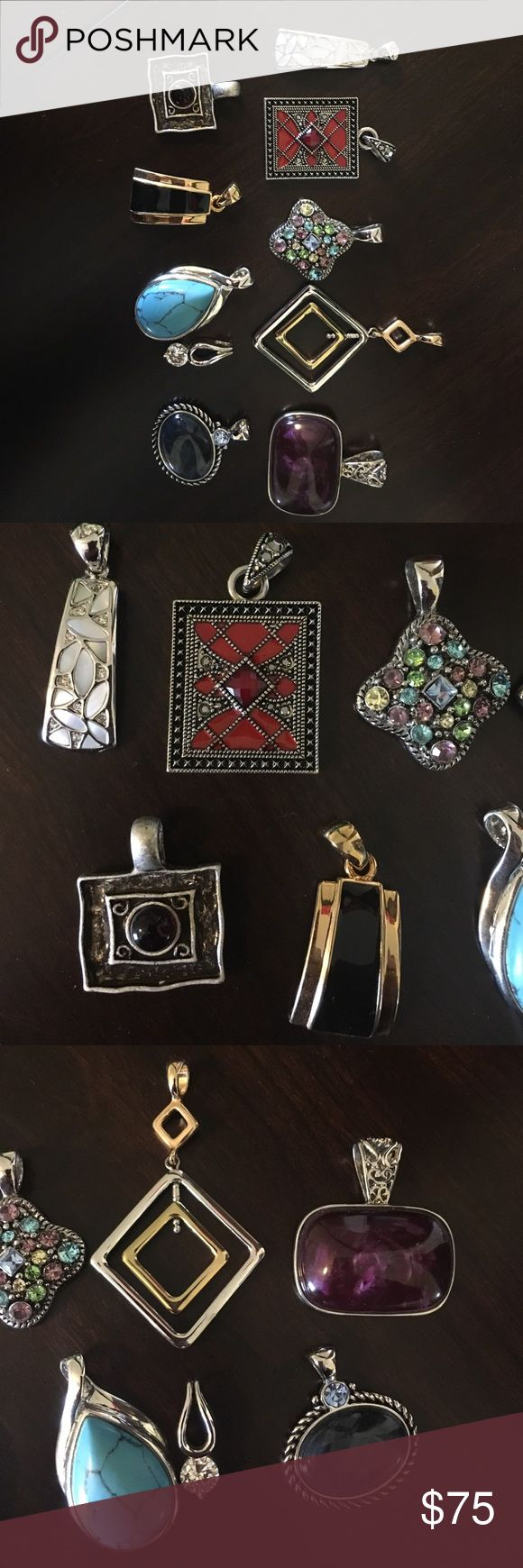 Lia Sophia Slide lot 10 slides. No boxes. Some NWOT others worn <5 timeS Lia Sophia Jewelry Necklaces