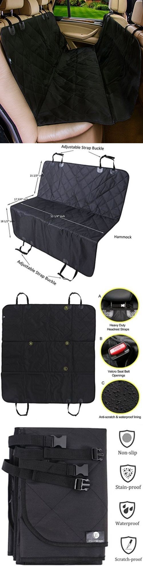 Car Seat Covers 117426: Pet Car Seat Cover For Cars, Moonsteps Waterproof Dog Hammock Seat Cover For - BUY IT NOW ONLY: $46.76