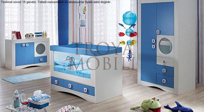 Erkek Bebek Odası http://www.masifmobilya.com.tr/urunler/bebek-odasi