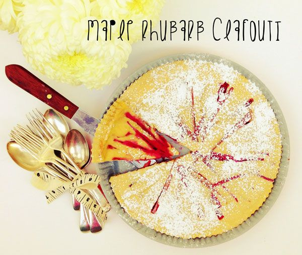 Recipe Redux Maple Rhubarb Clafouti – by Emma Stirling APD