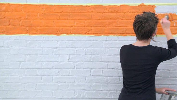 25 beste idee n over verf strepen op pinterest gestreepte muren gestreepte muren en - Hoe kleed je een witte muur ...