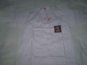 Baju SMA Putih Putra Putri No L1  Bahan oxford  Ukuran: 43cm x 60cm ( Lebar Dada x Panjang Baju) http://tokoyuan.com/seragam-laki/baju-sma-putih-no-l1/