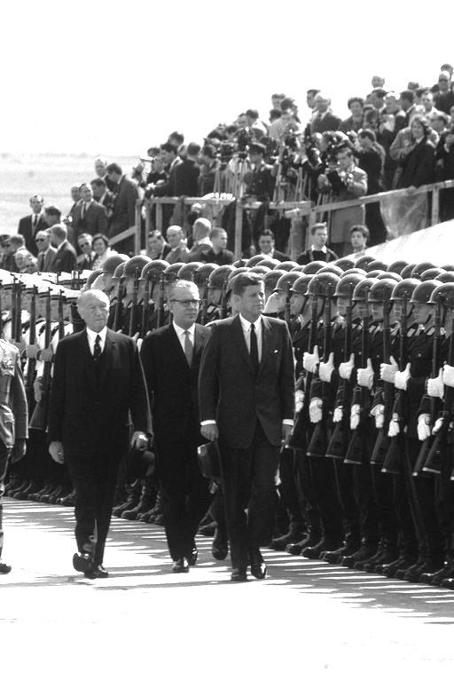 #JFK_Photos  President Kennedy in Berlin in June,1963 in the presence of Chancellor Konrad Adenauer...