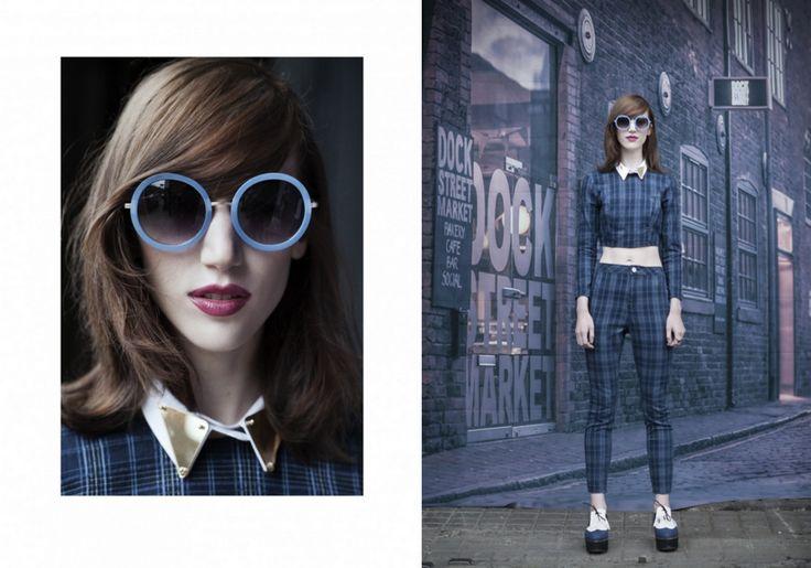 JOANNE HYNES | Pyramid Gold Perspex Collar | MAVEN46 Magazine & E commerce hybrid | September 2014 |