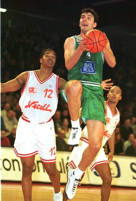 Dejan Bodiroga in action during his time with the Greek side Panathinaikos Athens...