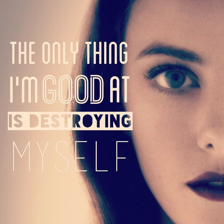 The only thing i'm good at is destroying myself #skins #effy
