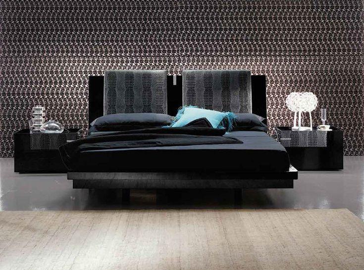 Diamond Black Platform Bed by Rossetto - $2,099.00
