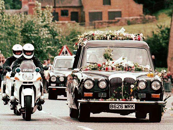 Princess Diana´s funeral cortege in 1997.