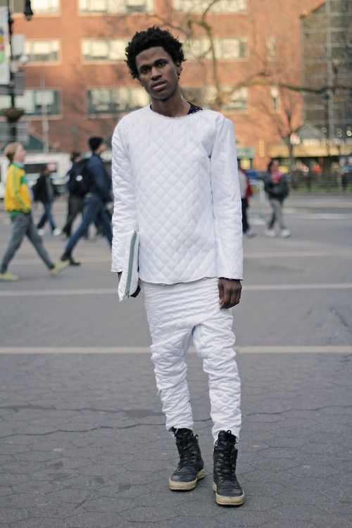 85 Best Images About Menu0026#39;s All White Outfit On Pinterest | White Joggers Mens White Suit And ...
