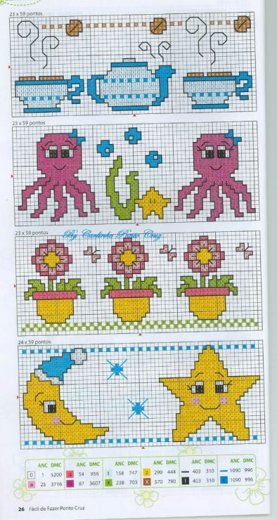 étoile - lune - point de croix - cross stitch - Blog : http://broderiemimie44.canalblog.com/