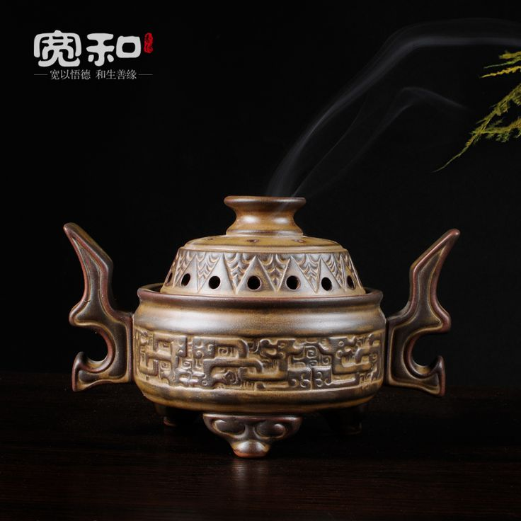 Vintage ceramic creative home aromatherapy incense coil furnace furnace stove furnace sink sandalwood incense