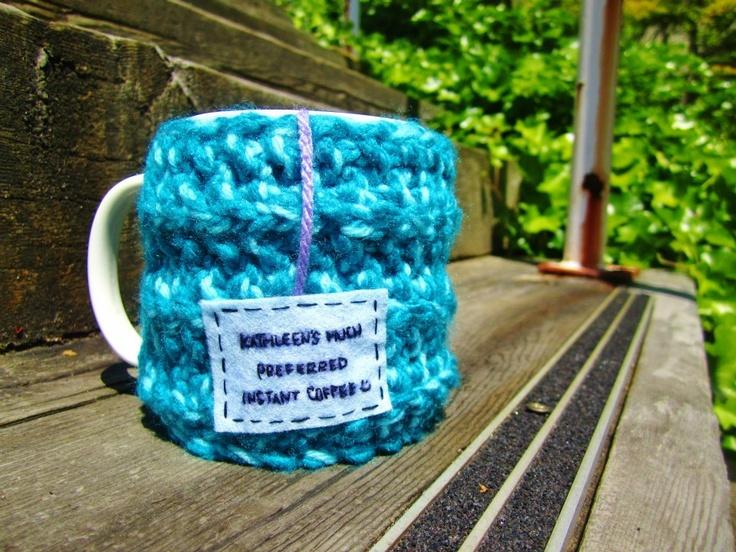 "Onana Snug Mug Cozy || ""Kathleen's Much Preferred Instant Coffee :)"""